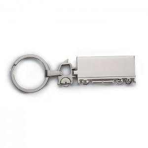 Teherautó alakú fém kulcstartó