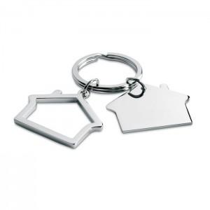 Ház alakú fém kulcstartó