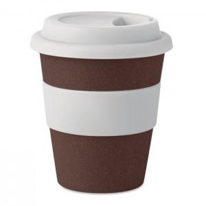 Kávébab-héj/PP ivópohár, 350ml