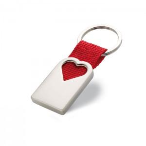 Szív kulcstartó fémből