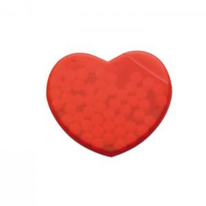 Szív alakú cukorka tartó