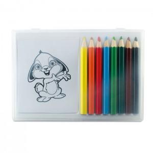 RECREATION Színező készlet fa ceruzával