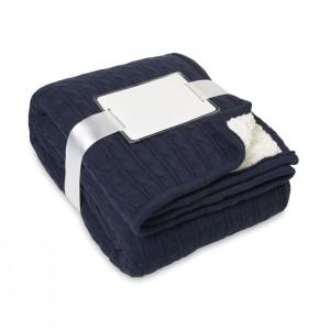Akril/sherpa kötött takaró