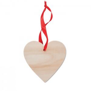 Szív alakú fa karácsonyfadísz