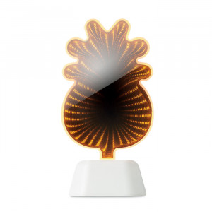 Tükör LED dekorációs ananász