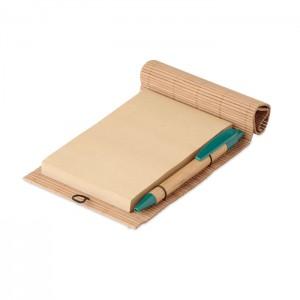 Bambusz jegyzetfüzet tollal