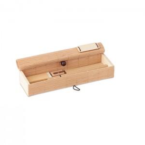 Bambusz íróeszköz készlet