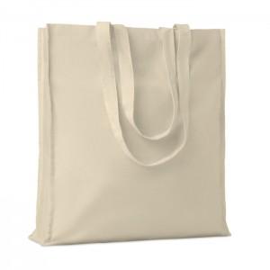 Pamut bevásárlótáska toldással