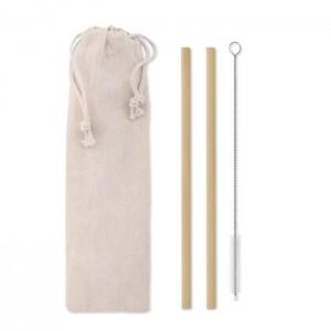 NATURAL STRAW Bambusz szívószál/kefe tokban