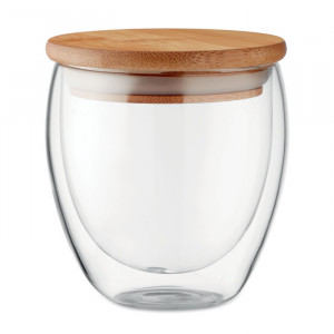 Duplafalú üveg pohár, 250 ml