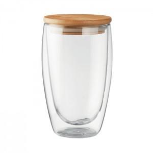 Duplafalú üveg pohár, 450 ml