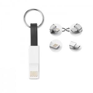 3-1-ben töltőkábel kulcstartó