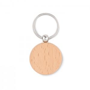Kerek fa kulcstartó