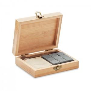 Whisky szett bambusz dobozban