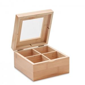 Bambusz teafilter tartó doboz