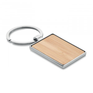 Bambusz kulcstartó, szögletes