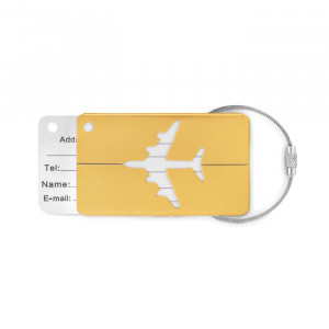 FLY TAG Alumínium bőröndcímke
