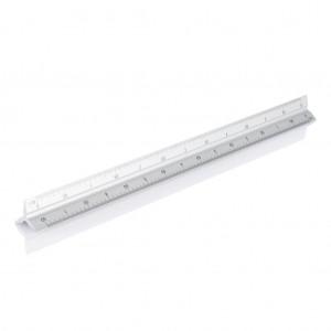 Alumínium vonalzó 30 cm, ezüst színű