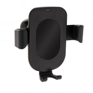 Autós telefontartó 5W-os vezeték nélküli töltővel, fekete