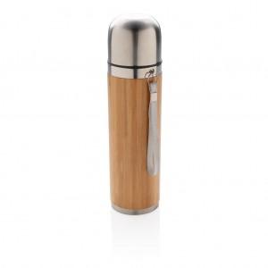 Bambusz vákuum palack utazáshoz, barna