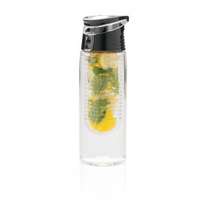 Zárható gyümölcstartós palack, átlátszó