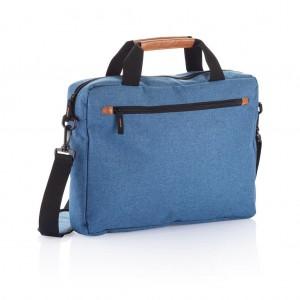 Divatos kétszínű laptop táska, kék