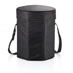 Összehajtható piknikkosár, fekete