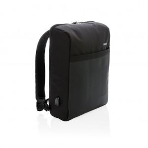 """Swiss Peak 15""""-os RFID lopásgátló&USB, PVC-mentes hátizsák,"""