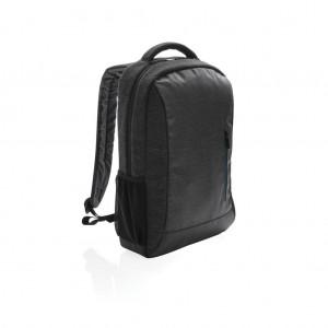 900D PVC-mentes laptop hátizsák, fekete