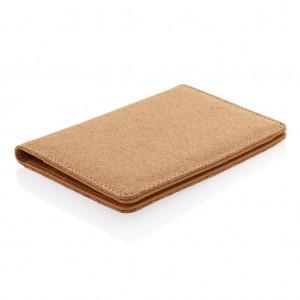 Eco parafa RFID-biztos útlevéltartó, barna