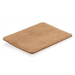 Eco parafa RFID-biztos kártyatartó, barna