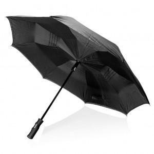 """Swiss Peak 23""""-os félautomata kifordítható esernyő, fekete"""