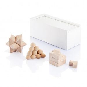 Fa fejtörő - 3 db-os, fehér